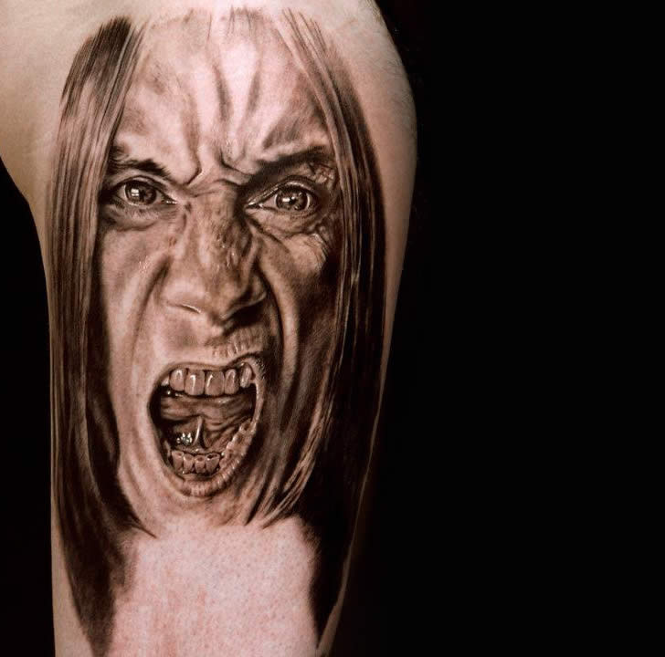 Iggy Pop Tattoo by Andrea Afferni
