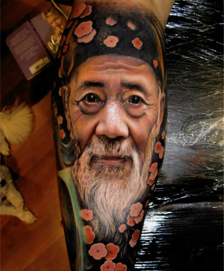 Realistic Tattoos: It isn't Mr. Miyagi!