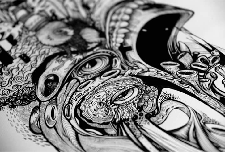 Zoom of drawing by DZO Olivier