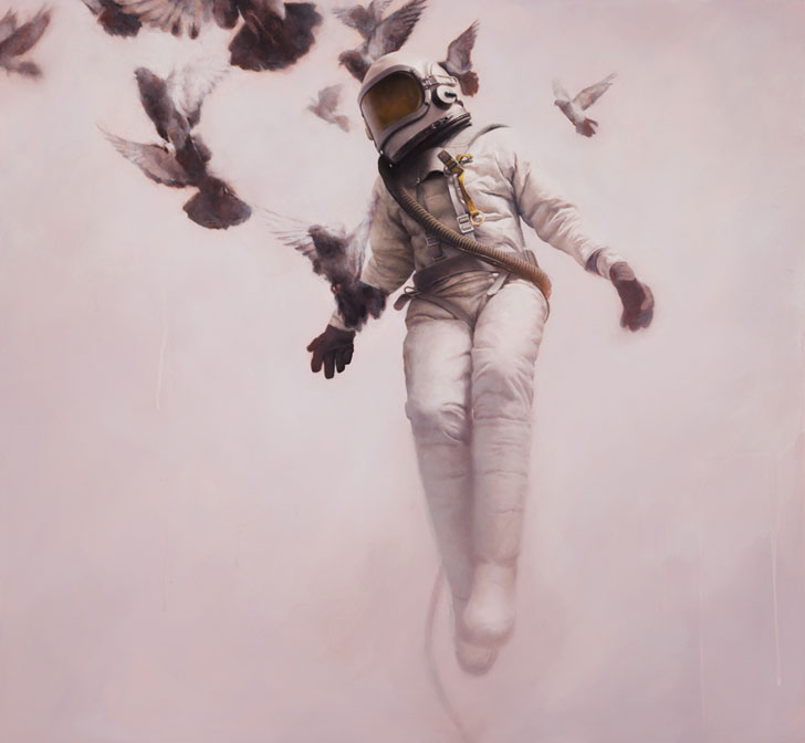 White Cosmonaut by Jeremy Giddes