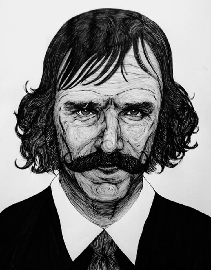 Portrait of Daniel Day Lewis by Honey