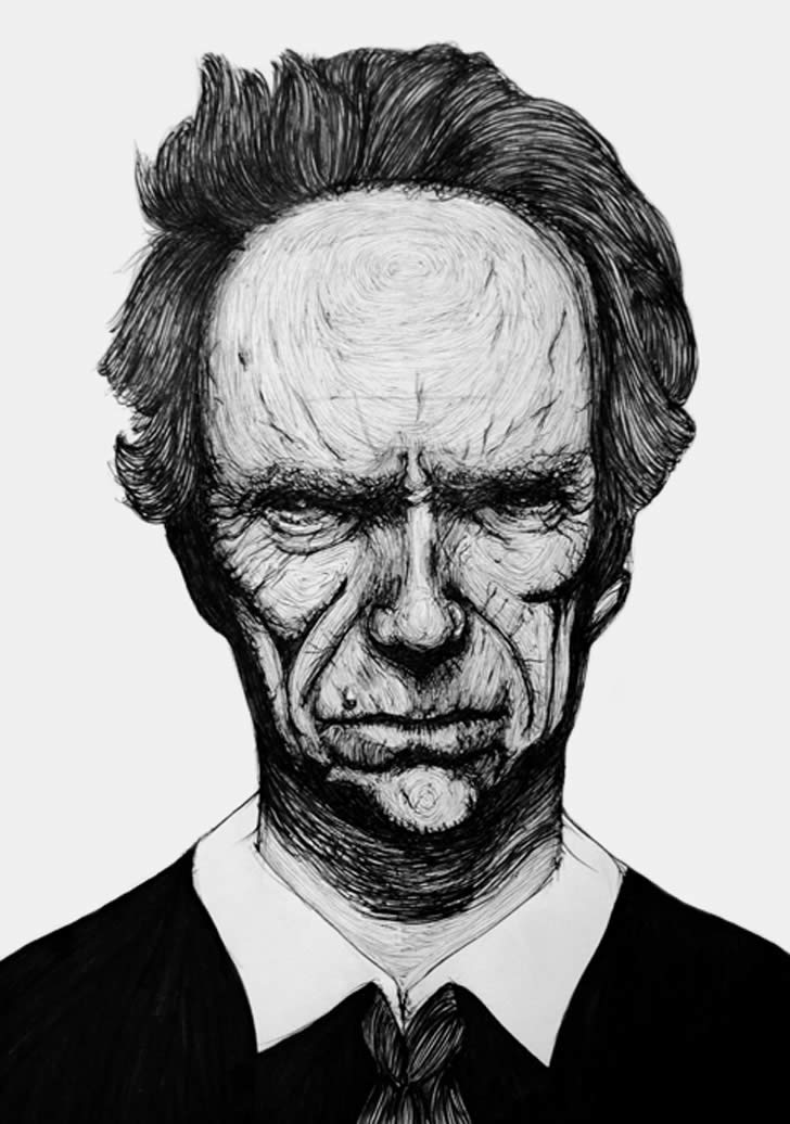 Clint Eastwood by Honey