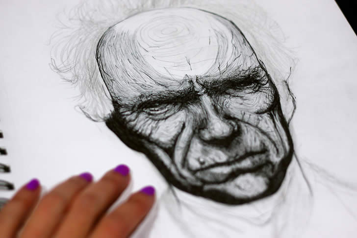 Portrait of Clint Eastwood by Honey