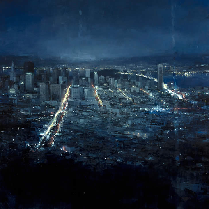 Blue San Francisco by Jeremy Mann