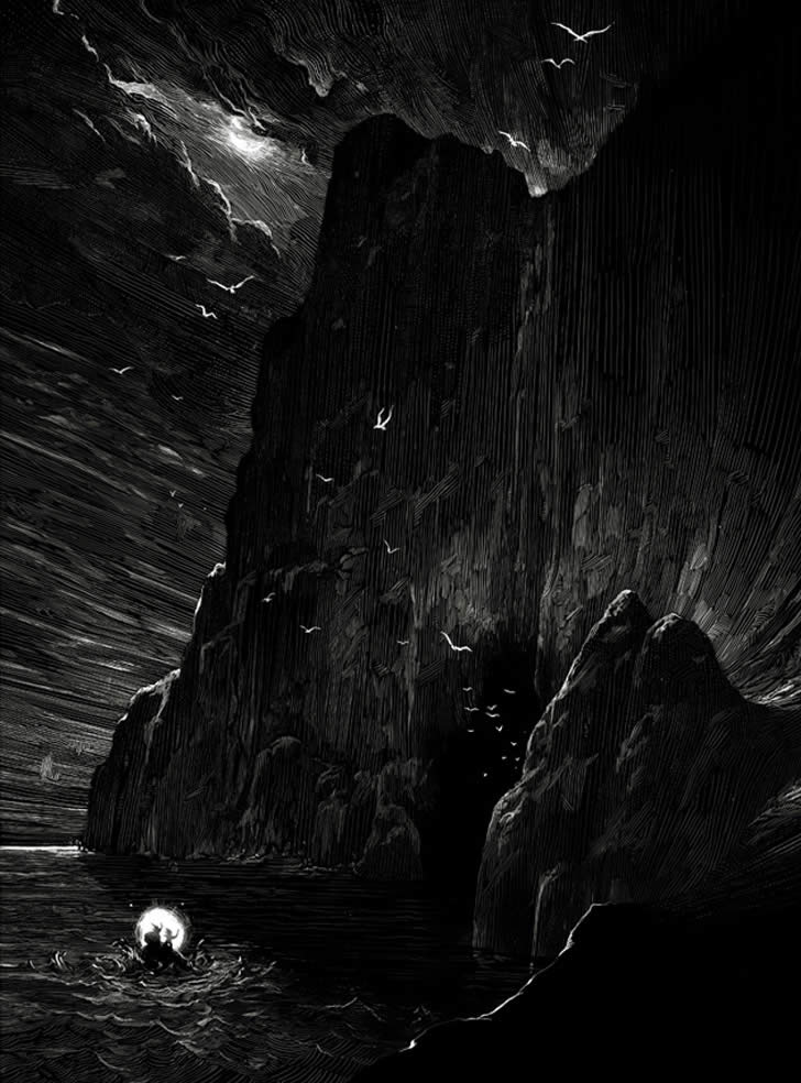 The Cave Illustration by Nico Delort