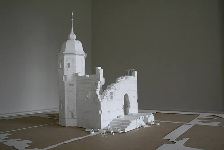 Paper castle by peter callesen