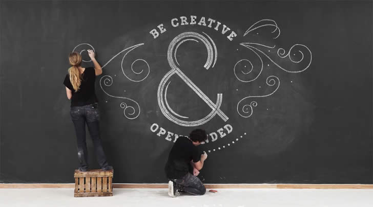 Be Creative and Open Minded. Chalk Video by Twixl