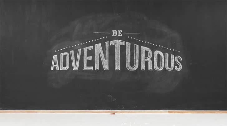 Be Adventurous. Chalk Video by Twixl