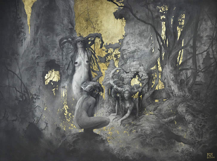 Fantasy oil painting by Yoann Lossel