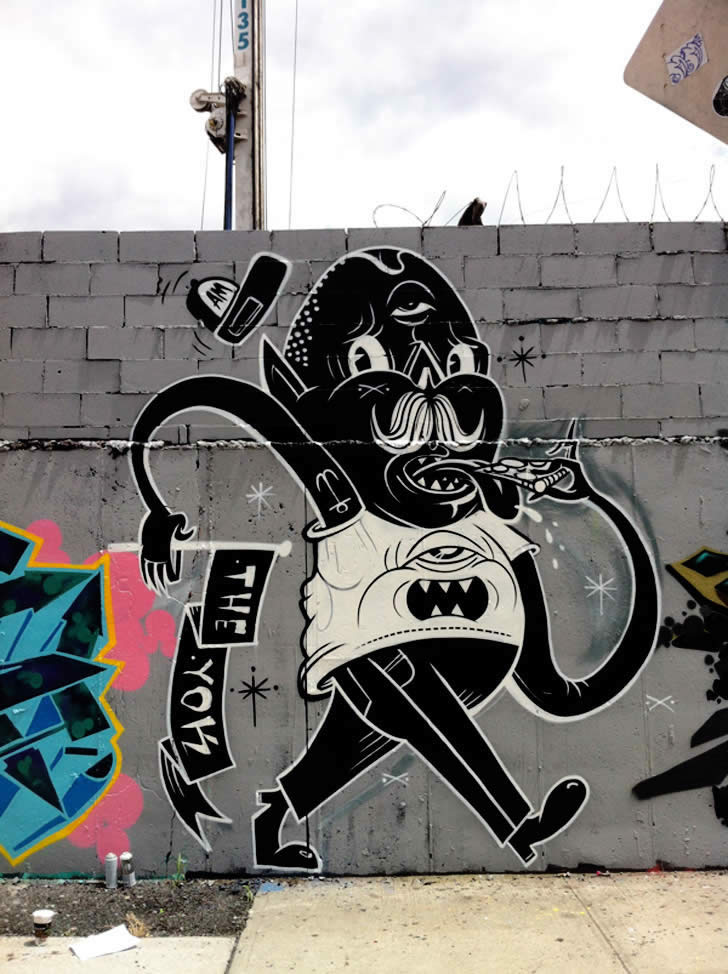 Black and White Dude. Street art by Yok