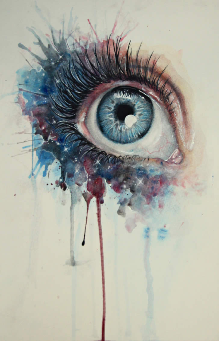 Realistic eye drawing by BenjiiBen
