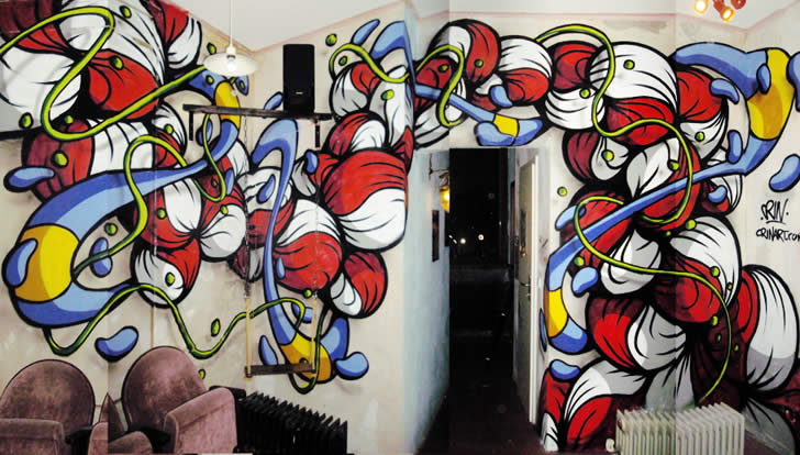Graffiti style mural by Crin