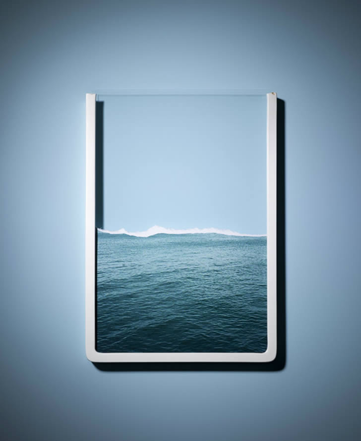 The ocean framed by Horacio Salinas