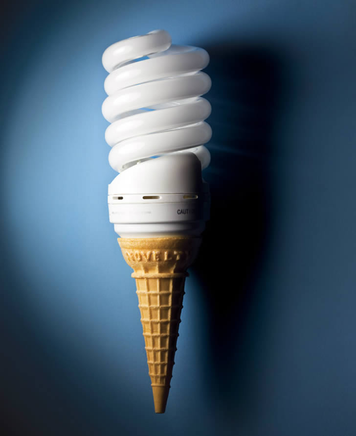 Lightbulb Ice cream