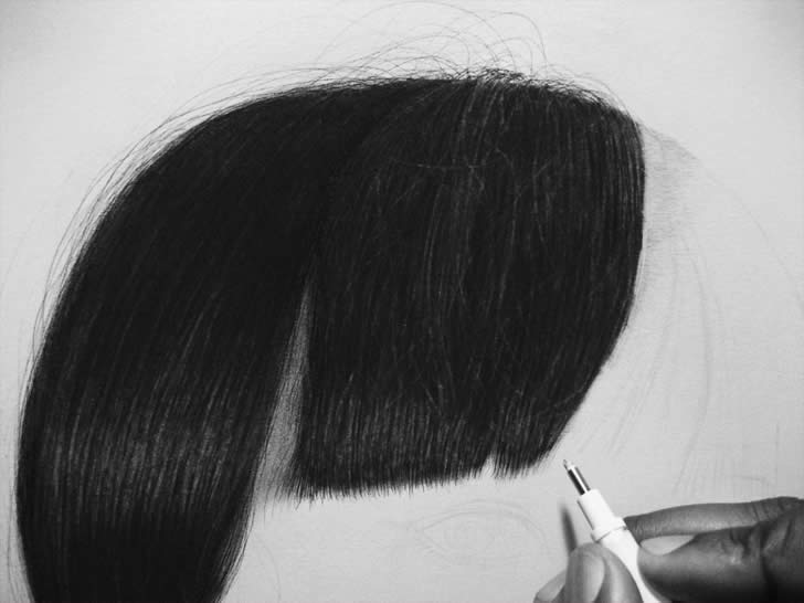 Detail of the Hair (Mana) by Kelvin Okafor