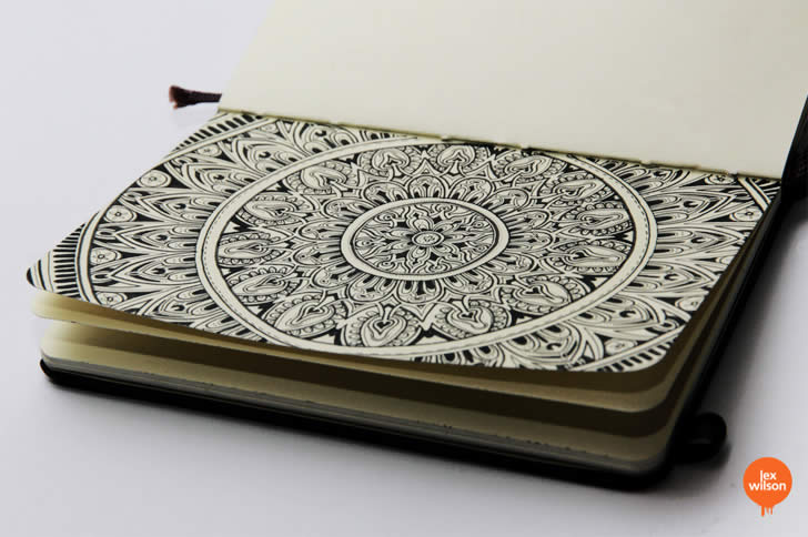 Elaborate Circle Sketchbook by Lex Wilson