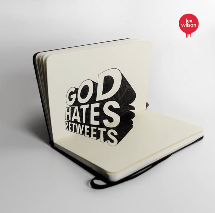 Anamorphic type: God Hates Retweets