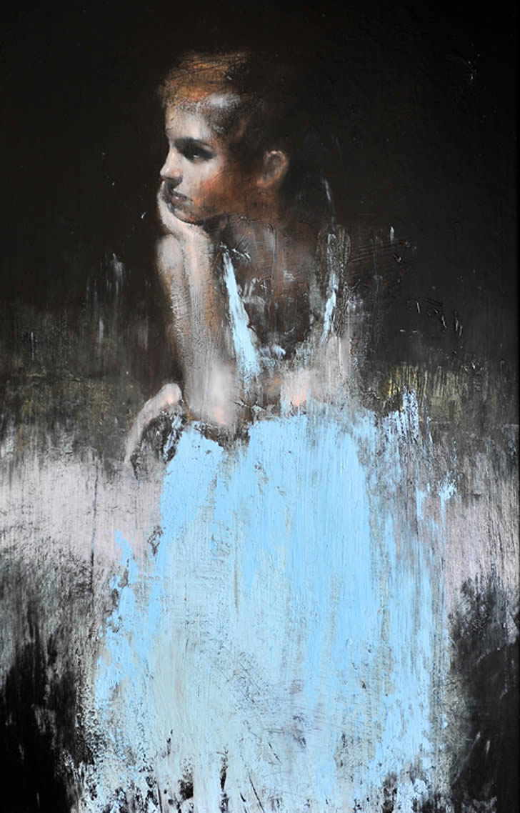 Emma Watson. Painting by Mark Demsteader