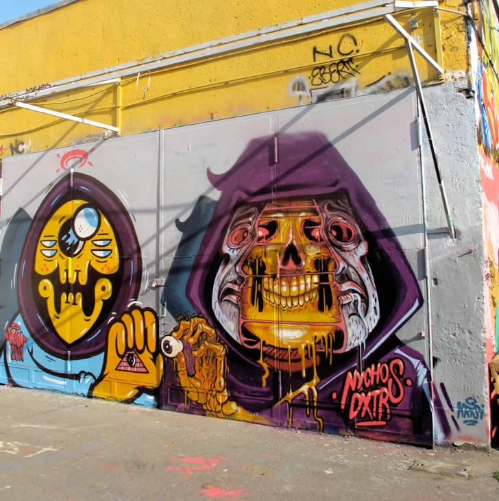Lord Skull Man. Graffiti by Nychos