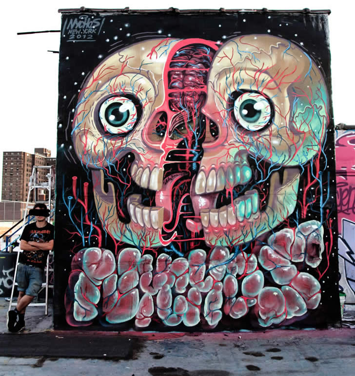 Skull Cracked Open by Nychos