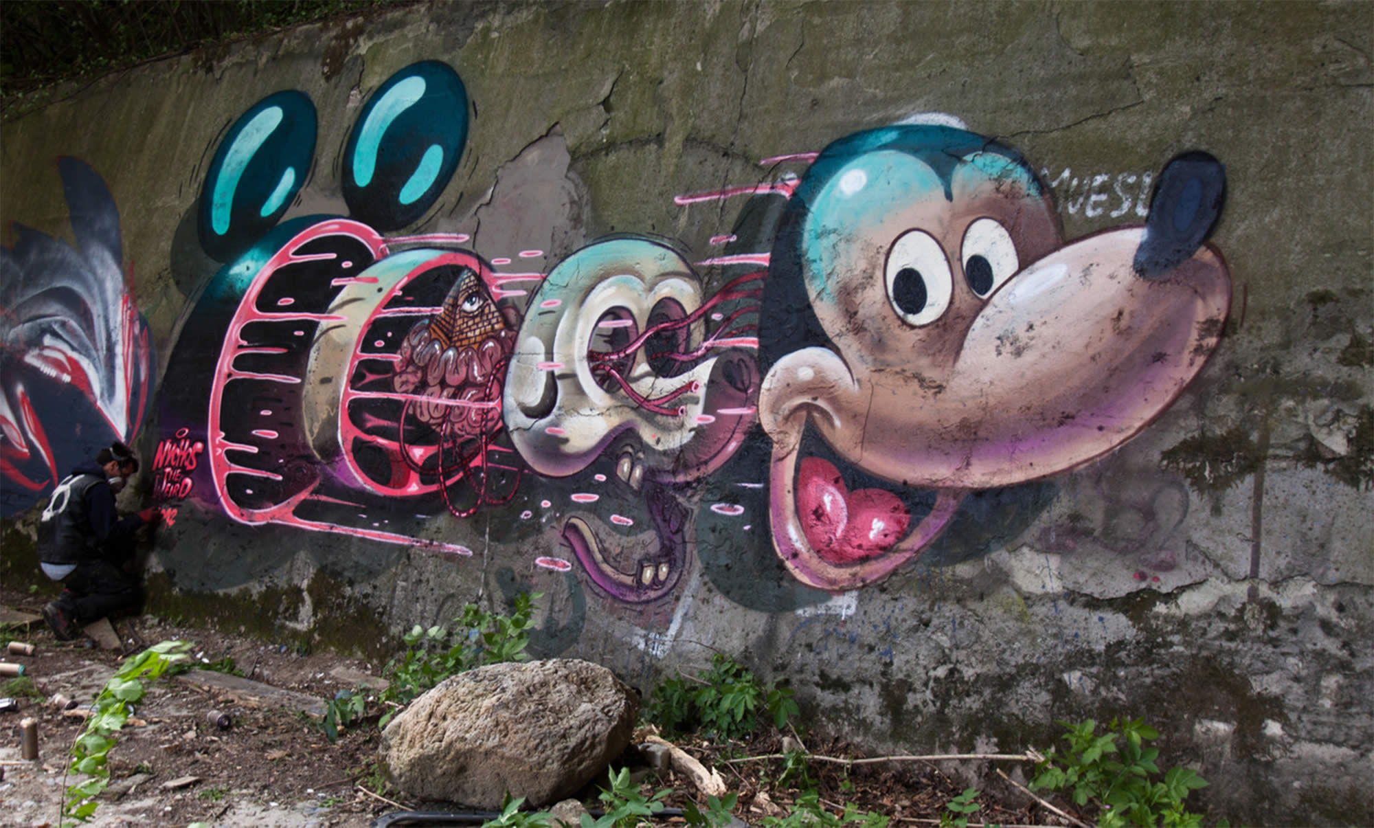 dissected mickey mouse graffiti by nychos