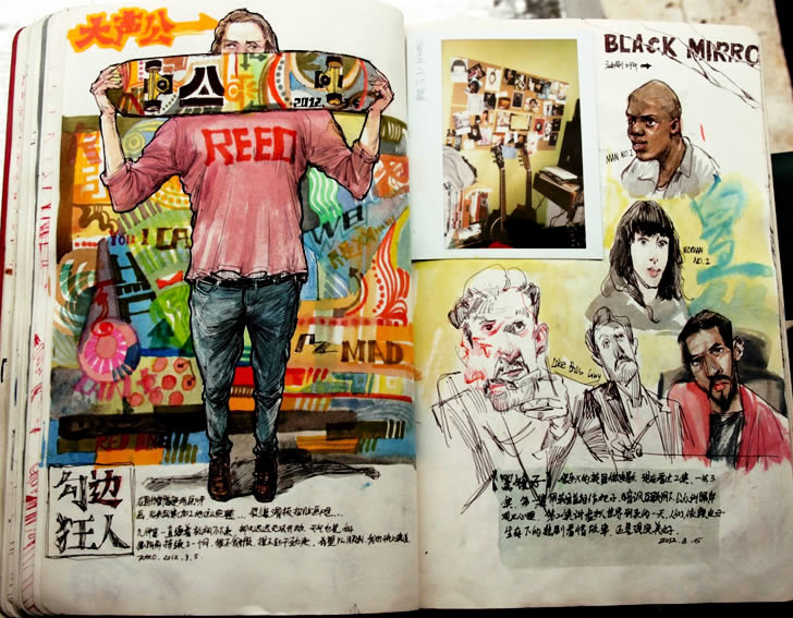 Sketchbook drawings by Reeo Zerkos