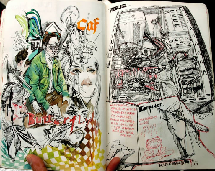Sketchbook drawings 2 by Reeo Zerkos
