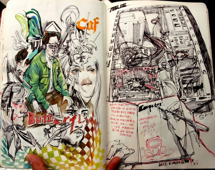 Sketchbook k drawings 4 by Reeo Zerkos