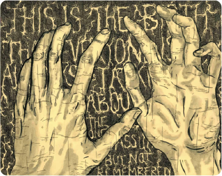 Hands and lettering by Sean Lewis