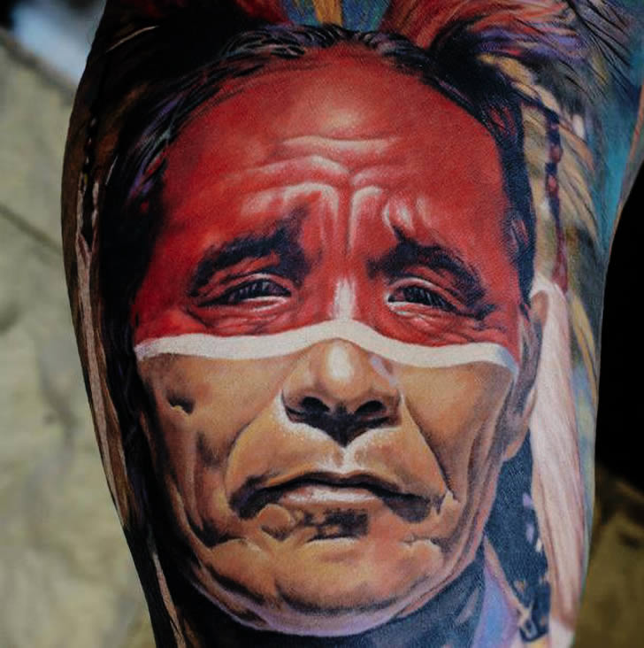 Indian Tattoo by AD Pancho