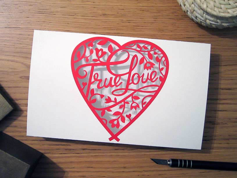 True Love Paper Card by Anatoly Vorobyev