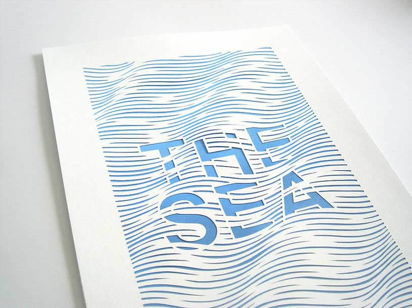 The Sea papercut by Anatoly Vorobyev