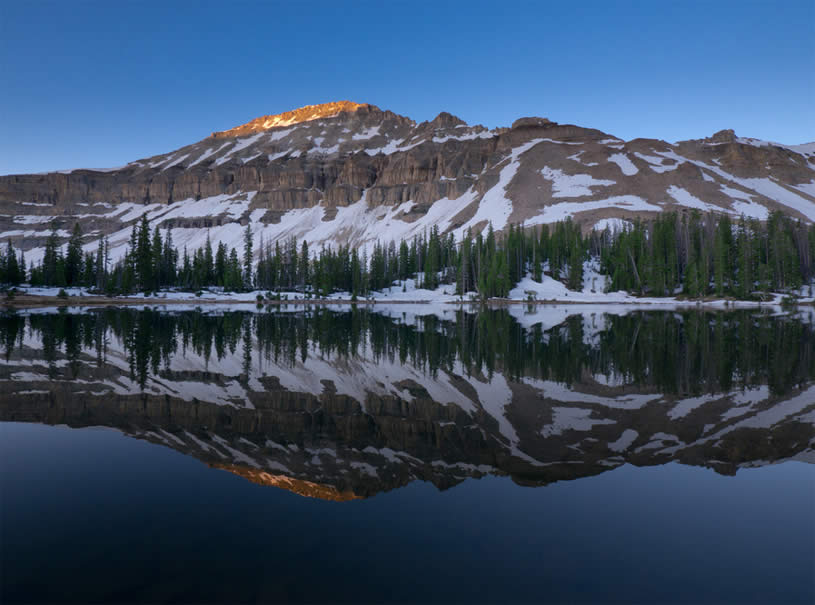 Mountain Mirror Reflection by Dan Ransom