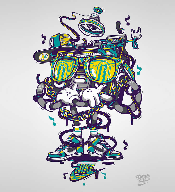 Stereo sunglasses character for nike by dxtr