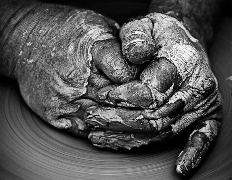 Hands in clay by Gavino Idili
