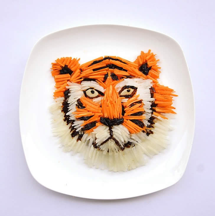 Tiger Made with Rice by Hong Yi