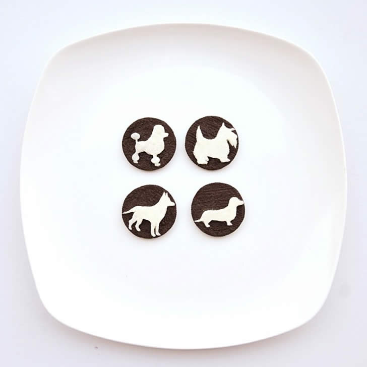 Dogs made with Oreo Cookies by Hong Yi