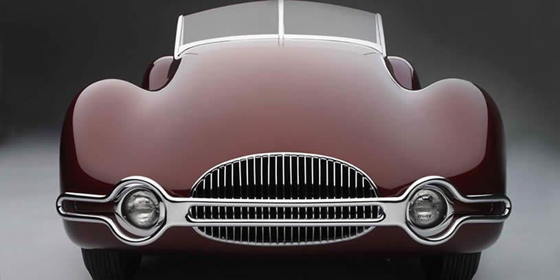 Front view of 1948 Buick Streamliner
