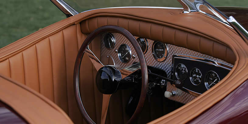 Steering Wheel and Inside of Car  - 1948 Buick Streamliner