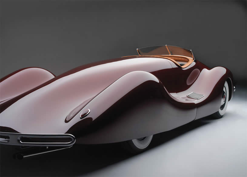 Back View of 1948 Buick Streamliner  by Norman Timbs
