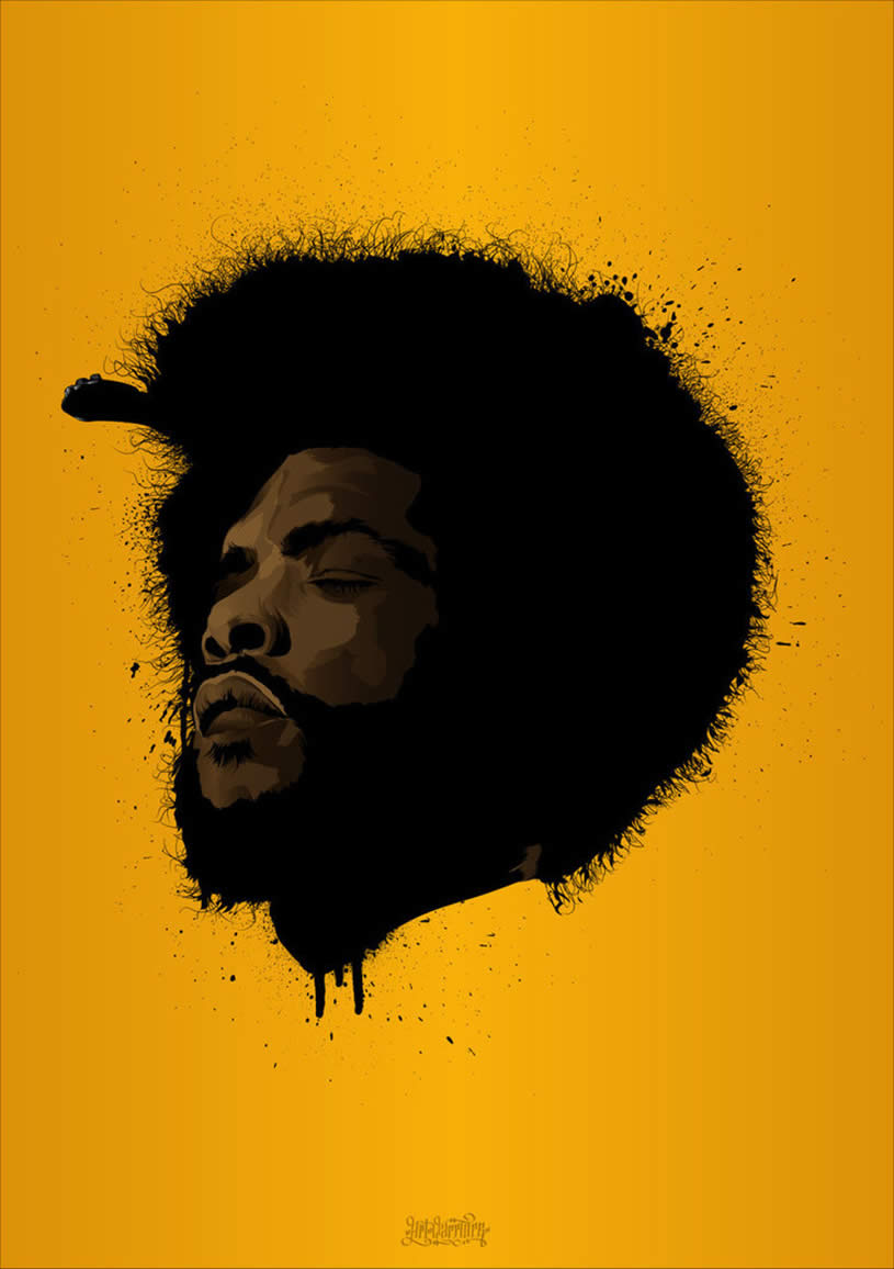 Portrait of Questlove by The Art Warriors