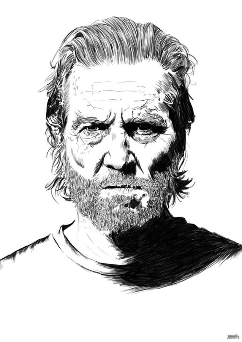 Portrait of Jeff Bridges by The Art Warrior