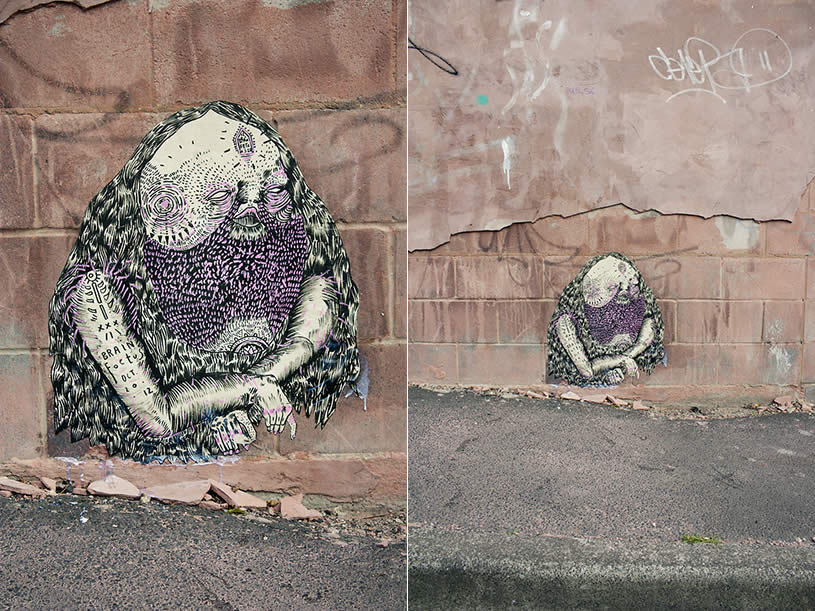 Character design on Wall by Brain Foetus
