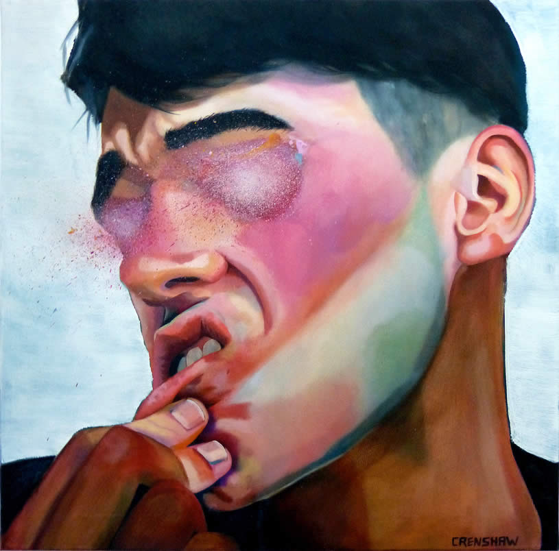Blindsided painting by Carina Crenshaw