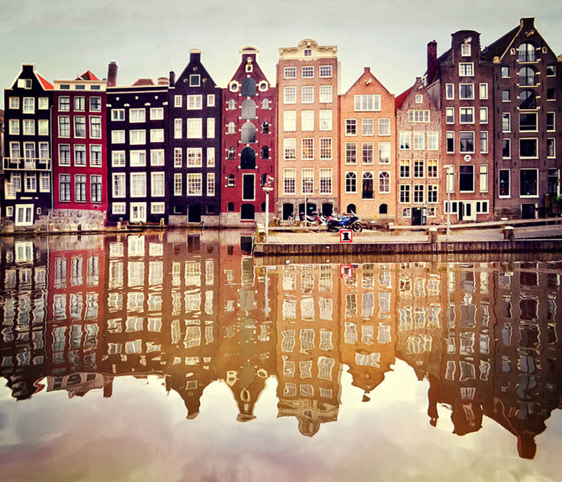 Amsterdam reflection by Ann Gett