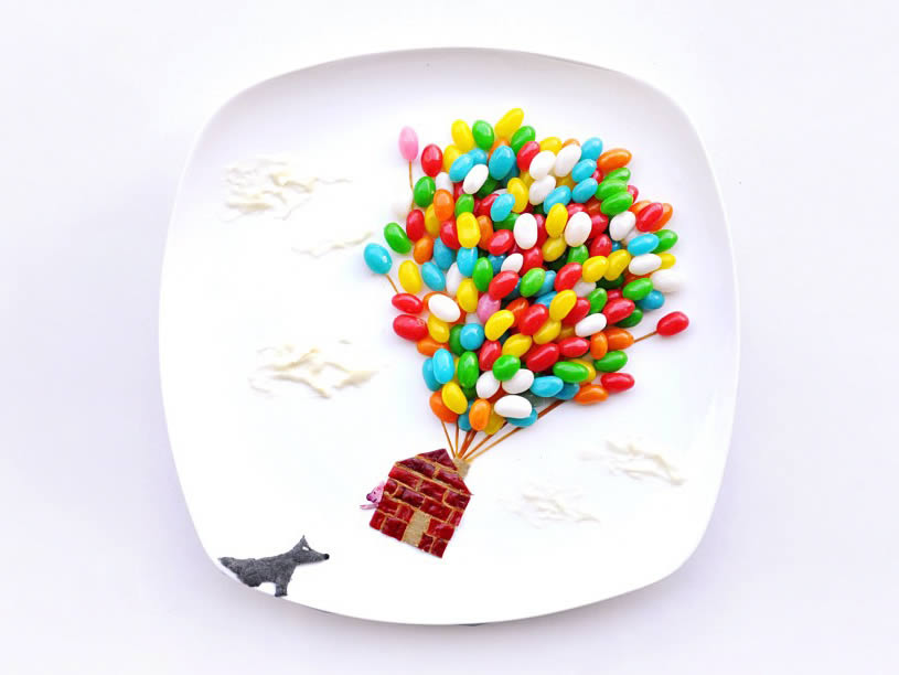 Jelly Bean Up in the Air Plate by Hong Yi
