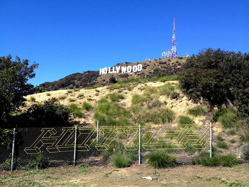 Street art near Hollywood sign by Hottea