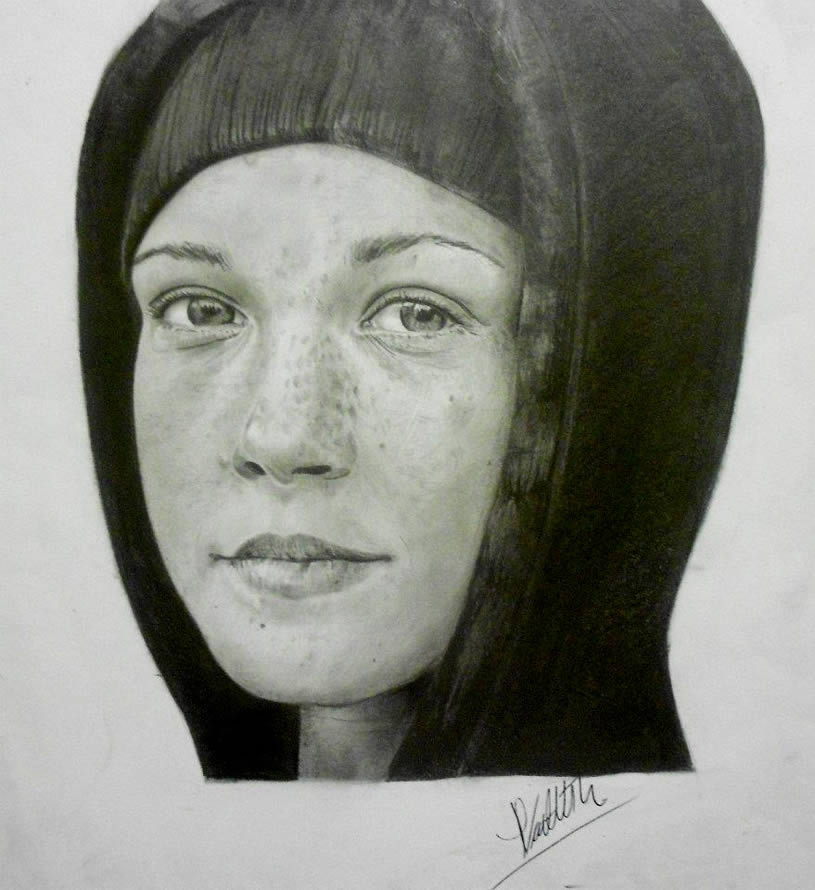Freckled Kid. Drawing by Mayra Vialette