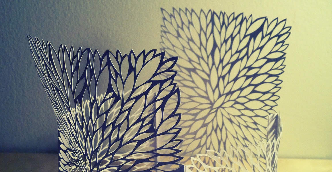 Another paper box with patterns by Rachel Ashe