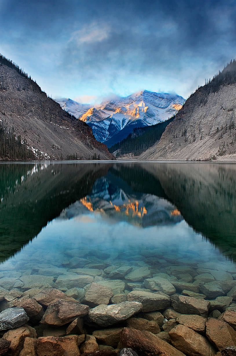 Reflection Landscape Mountains in Alberta, Canada. By Andreas Krause